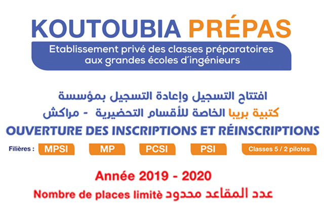Inscription 2019 - 2020